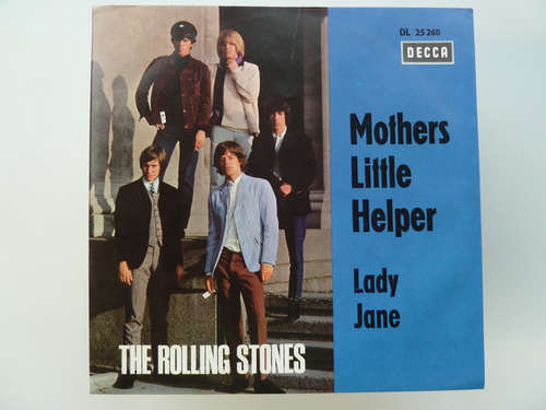 Cover The Rolling Stones - Mothers Little Helper / Lady Jane (7, Single, Mono, St) Schallplatten Ankauf