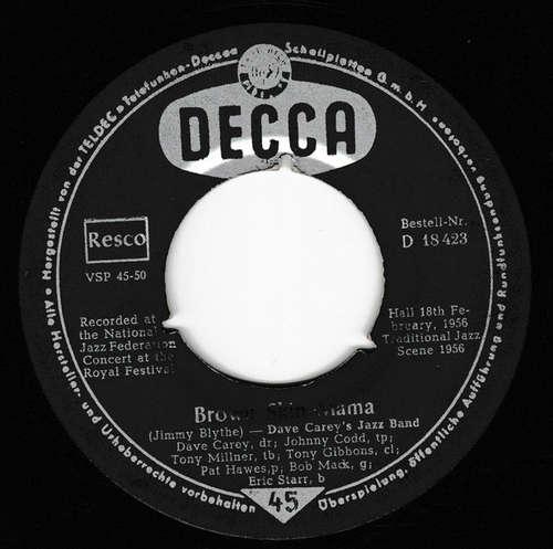 Cover Dave Carey's Jazz Band* - I've Found A New Baby / Brown Skin Mama (7) Schallplatten Ankauf