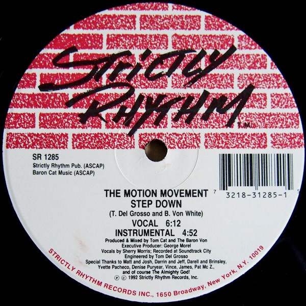 Cover The Motion Movement - Step Down / The Chase (12) Schallplatten Ankauf
