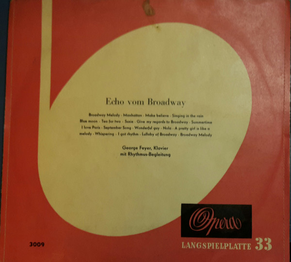 Bild George Feyer - Echo Vom Broadway (10) Schallplatten Ankauf