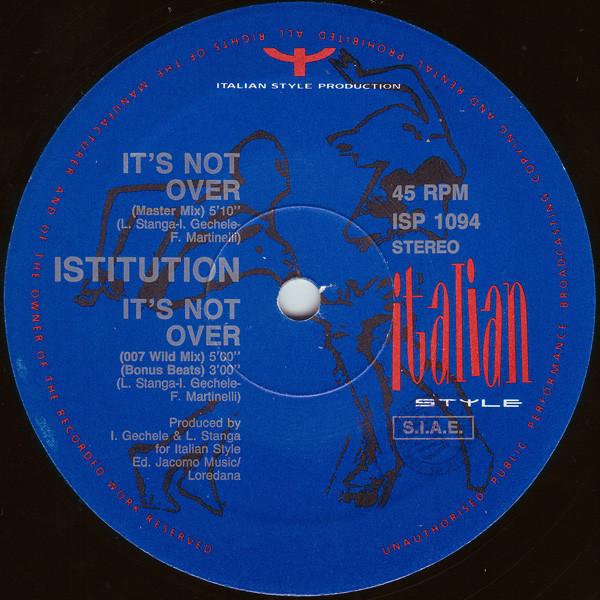 Bild Istitution - It's Not Over (12) Schallplatten Ankauf