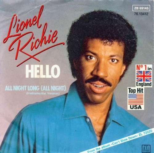 Bild Lionel Richie - Hello / All Night Long (Instrumental Version) (7) Schallplatten Ankauf