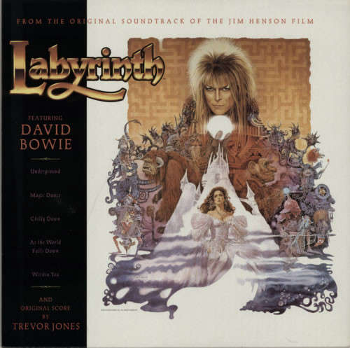 Cover David Bowie, Trevor Jones - Labyrinth (From The Original Soundtrack Of The Jim Henson Film) (LP, Album, RE, RM) Schallplatten Ankauf