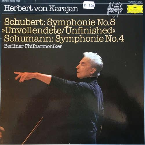 Cover zu Herbert von Karajan, Berliner Philharmoniker, Franz Schubert, Robert Schumann - Schubert: Symphonie No.8- Schumann: Symphonie No.4 (LP) Schallplatten Ankauf