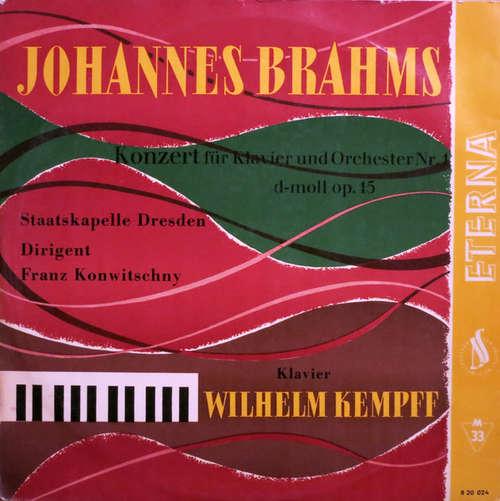 Cover zu Johannes Brahms, Staatskapelle Dresden, Franz Konwitschny, Wilhelm Kempff - Konzert Für Klavier Und Orchester Nr. 1  D-Moll Op. 15 (LP, Mono) Schallplatten Ankauf