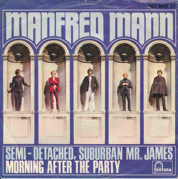 Bild Manfred Mann - Semi-Detached, Suburban Mr. James (7, Single, Mono) Schallplatten Ankauf