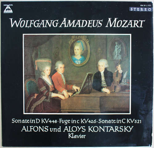 Cover zu Wolfgang Amadeus Mozart, Alfons Und Aloys Kontarsky* - Sonate In D KV 448 · Fuge In KV 426 · Sonate In C KV 521 (LP) Schallplatten Ankauf