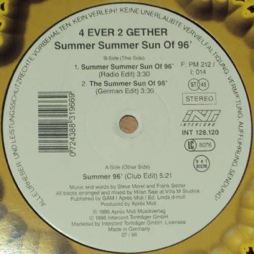 Bild 4 ever 2 gether* - Summer Summer Sun Of 96 (12) Schallplatten Ankauf