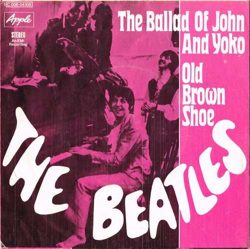 Cover The Beatles - The Ballad Of John And Yoko / Old Brown Shoe (7, Single) Schallplatten Ankauf