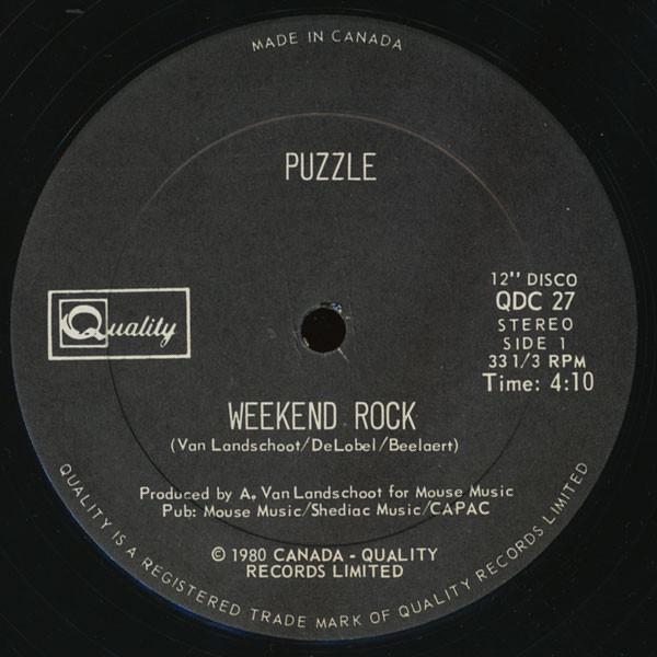 Bild Puzzle (9) - Weekend Rock / Taxi Driver (12) Schallplatten Ankauf