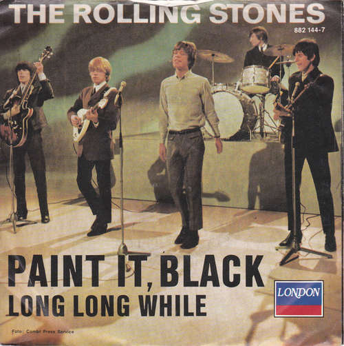 Cover The Rolling Stones - Paint It, Black (7, Single, RE, Blu) Schallplatten Ankauf