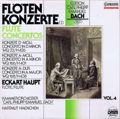 Cover zu Carl Philipp Emanuel Bach, Eckart Haupt, Kammerorchester Carl Philipp Emanuel Bach* - Hartmut Haenchen - Flötenkonzerte (LP, Gat) Schallplatten Ankauf