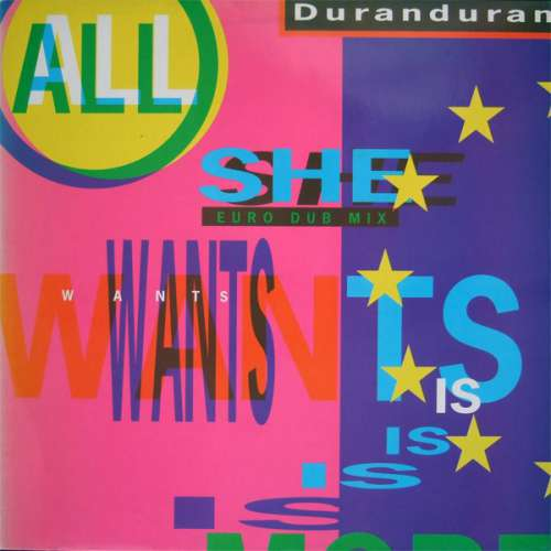 Cover Duran Duran - All She Wants Is (12) Schallplatten Ankauf