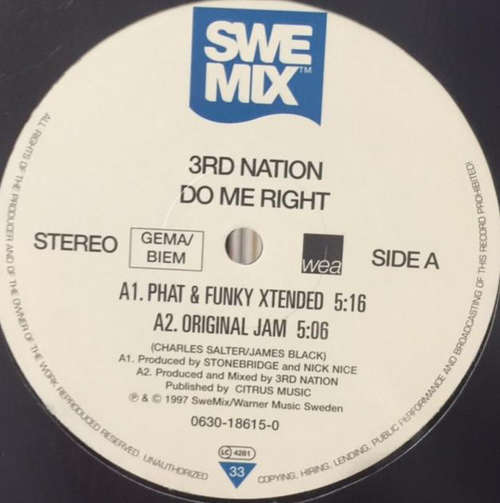Bild 3rd Nation - Do Me Right (12) Schallplatten Ankauf