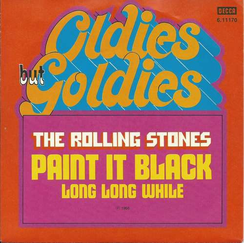 Cover The Rolling Stones - Paint It Black / Long Long While (7, Single, RE) Schallplatten Ankauf