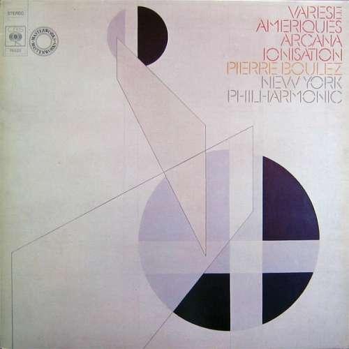 Cover Varese* - Pierre Boulez, New York Philharmonic* - Ameriques / Arcana / Ionisation (LP, Quad) Schallplatten Ankauf