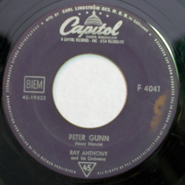 Cover Ray Anthony And His Orchestra* - Peter Gunn / Tango For Two (7, Single) Schallplatten Ankauf