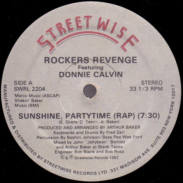 Bild Rockers Revenge Featuring Donnie Calvin - Sunshine Partytime (12) Schallplatten Ankauf