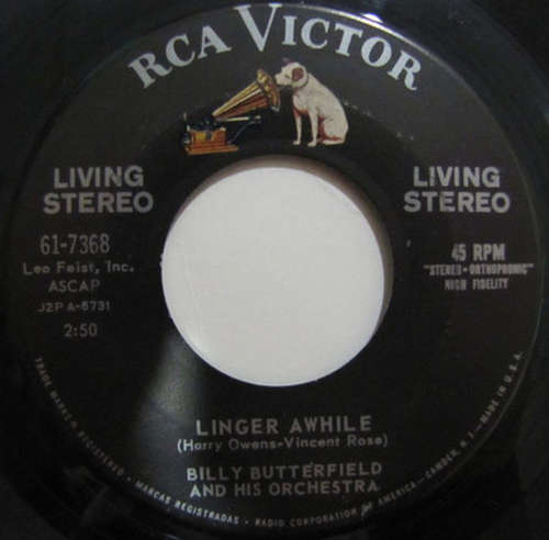 Bild Billy Butterfield And His Orchestra - Linger Awhile / The Whiffenpoof Song (7, Single) Schallplatten Ankauf