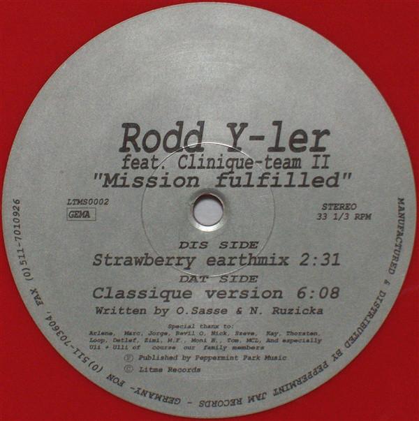 Cover Rodd Y-Ler* Feat. Clinique-team II* - Mission Fulfilled (12, Red) Schallplatten Ankauf