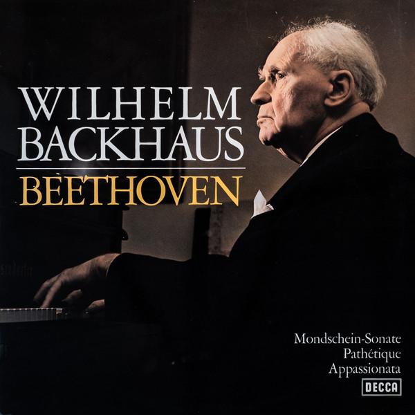 Cover zu Wilhelm Backhaus, Beethoven* - Mondschein-Sonate / Pathétique / Appassionate (LP) Schallplatten Ankauf