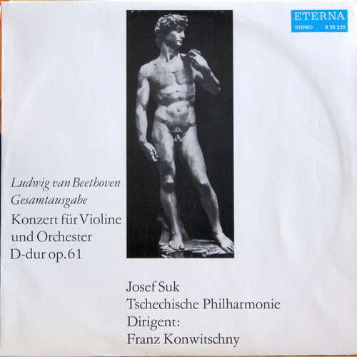 Bild Ludwig van Beethoven - Josef Suk, Tschechische Philharmonie*, Franz Konwitschny - Konzert Für Violin Und Orchester D-dur Op. 61 (LP, Album, RE) Schallplatten Ankauf