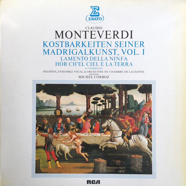 Cover zu Claudio Monteverdi, Michel Corboz - Kostbarkeiten Seiner Madrigalkunst Vol.1 (LP) Schallplatten Ankauf
