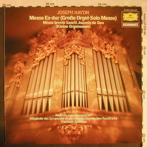 Bild Joseph Haydn, Theobald Schrems, Regensburger Domspatzen, Regensburger Domchor - Grosse Orgel-Solo-Messe Es-Dur • Kleine Orgelmesse B-Dur (LP, Album) Schallplatten Ankauf