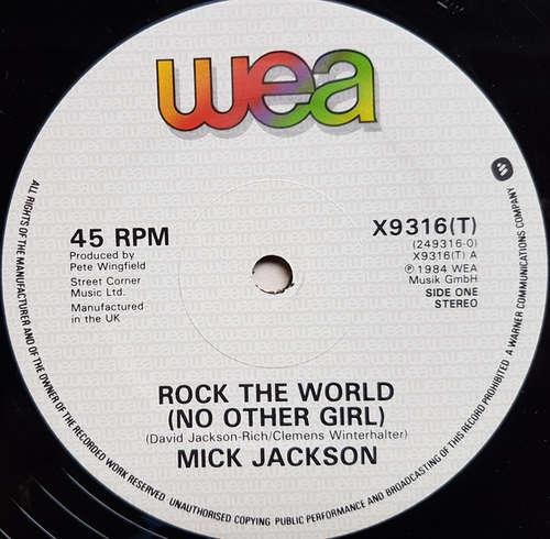 Cover Mick Jackson - Rock The World (No Other Girl) (12) Schallplatten Ankauf