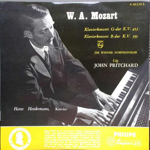 Cover W. A. Mozart*, Hans Henkemans, Die Wiener Symphoniker* , Ltg. John Pritchard - Klavierkonzert G-Dur K.V. 453 / Klavierkonzert B-Dur K.V. 595 (LP, Album) Schallplatten Ankauf