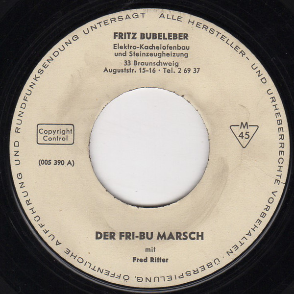 Bild Fred Ritter - Der Fri-Bu Marsch (7) Schallplatten Ankauf