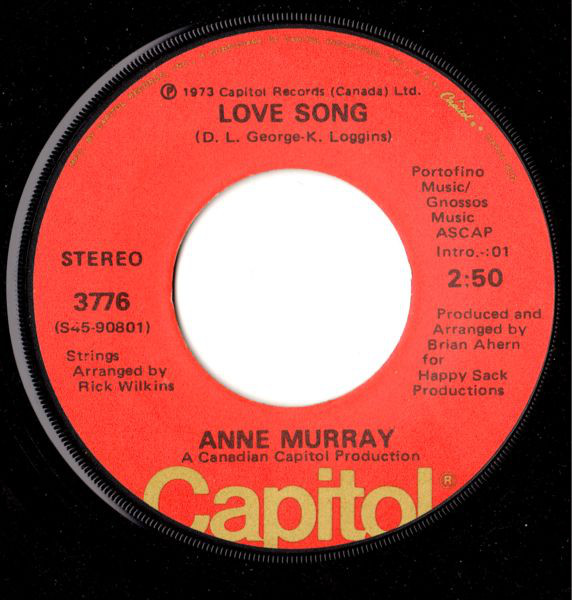 Bild Anne Murray - Love Song (7, Single) Schallplatten Ankauf