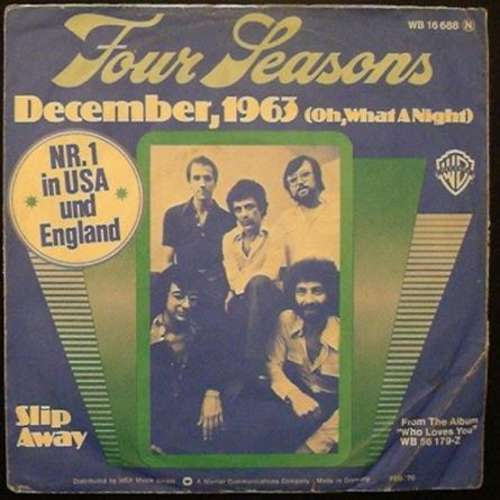 Cover zu Four Seasons* - December, 1963 (Oh, What A Night) (7, Single) Schallplatten Ankauf