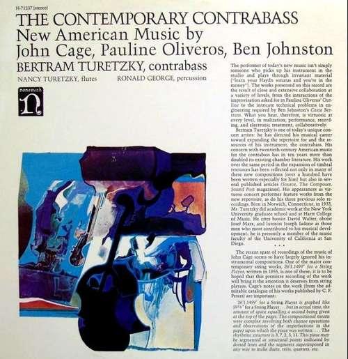 Cover The Contemporary Contrabass Schallplatten Ankauf