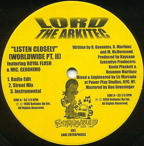Cover zu Lord The Arkitec - Listen Closely (Worldwide Pt. II) (12) Schallplatten Ankauf
