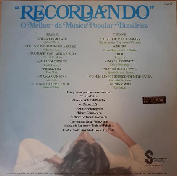 Cover Various - Recordando O Melhor Da Musica Popular Brasileira (LP, Comp) Schallplatten Ankauf