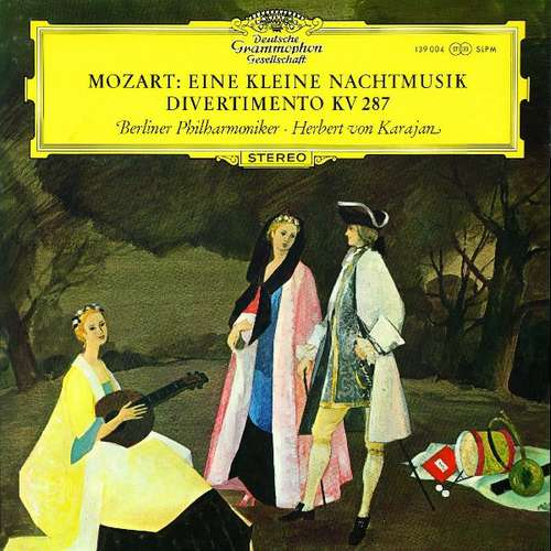 Bild Mozart*, Berliner Philharmoniker · Herbert von Karajan - Eine Kleine Nachtmusik, Divertimento KV 287 (LP) Schallplatten Ankauf