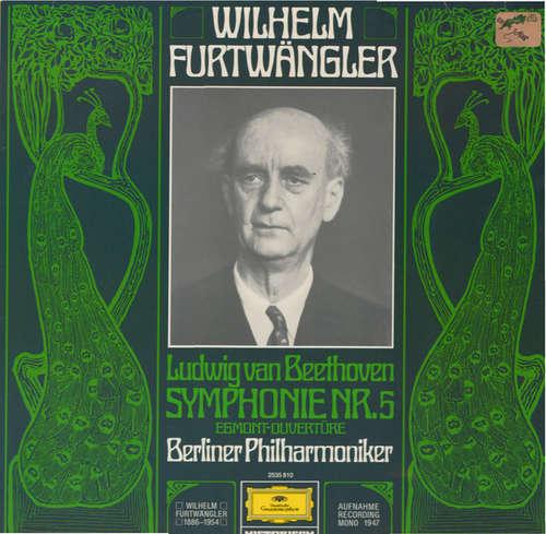 Cover zu Ludwig van Beethoven - Berliner Philharmoniker, Wilhelm Furtwängler - Sinfonie Nr. 5 C-Moll Op. 67 / Egmont-Ouvertüre Op. 84 (LP, Mono, RE) Schallplatten Ankauf