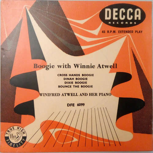 Cover Winifred Atwell - Boogie With Winifred Atwell (7, EP) Schallplatten Ankauf