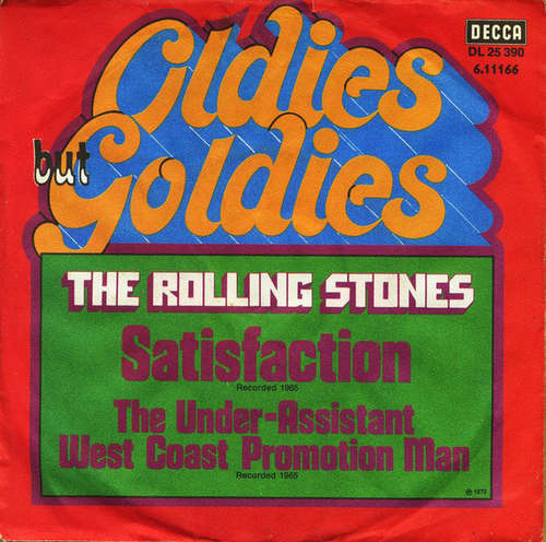 Cover zu The Rolling Stones - Satisfaction (7, Single, RE) Schallplatten Ankauf