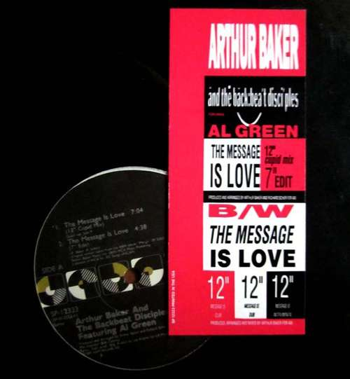 Cover Arthur Baker And The Backbeat Disciples - The Message Is Love (12) Schallplatten Ankauf