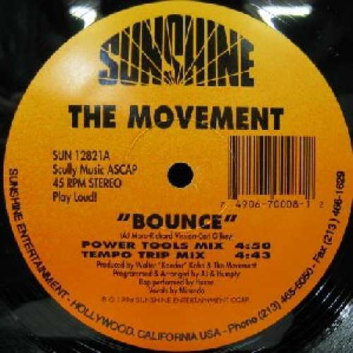 Cover The Movement (3) - Bounce (12) Schallplatten Ankauf