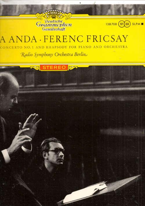 Bild Géza Anda - Ferenc Fricsay, Béla Bartók, Radio Symphony Orchestra Berlin* - Geza Anda - Ferenc Fricsay Bartok: Concerto No. 1 And Rhapsody for Piano And Orchestra (LP) Schallplatten Ankauf