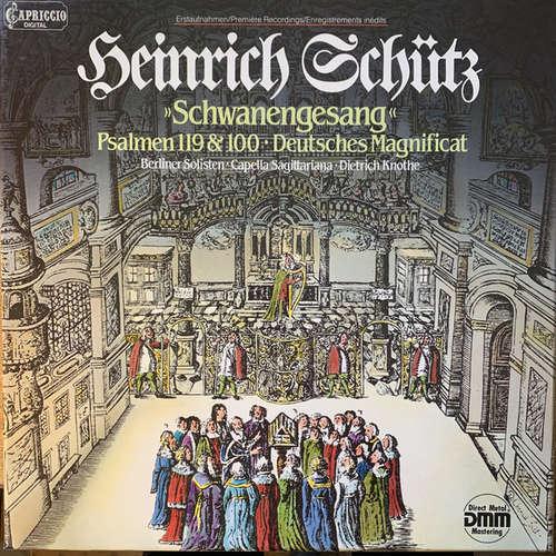 Bild Heinrich Schütz, Berliner Solisten, Cappella Sagittariana*, Dietrich Knothe - Schwanengesang (Psalmen 119 & 100 / Deutsches Magnificat) (2xLP, Club + Box) Schallplatten Ankauf