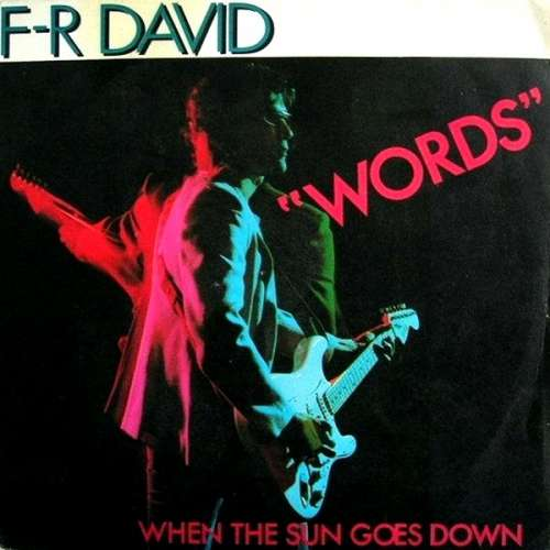 Bild F-R David* - Words (7, Single, Pap) Schallplatten Ankauf