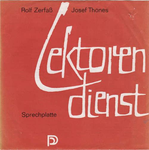 Cover Rolf Zerfaß, Josef Thönes - Lektorendienst (7) Schallplatten Ankauf