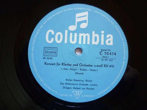 Cover Wolfgang Amadeus Mozart - Walter Gieseking, Das Philharmonia Orchester London*, Herbert von Karajan - Konzert Für Klavier Und Orchester C-Moll KV 491 (10) Schallplatten Ankauf
