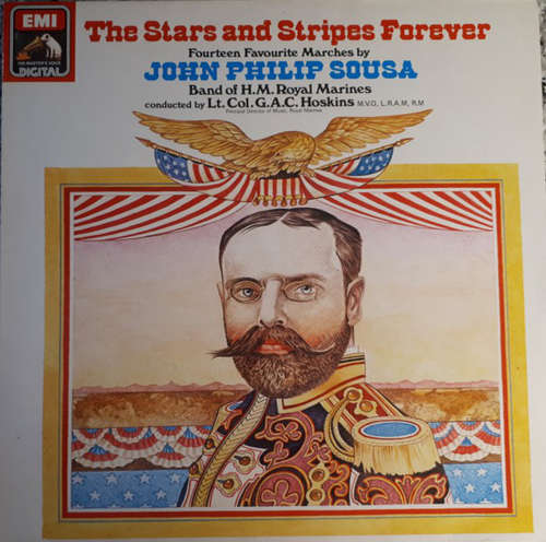 Cover John Philip Sousa, Band Of H.M. Royal Marines*, Lt. Colonel G.A.C. Hoskins, M.V.O., L.R.A.M., R.M.* - The Stars And Stripes Forever (Fourteen Favorite Marches By John Philip Sousa) (LP, S/Edition) Schallplatten Ankauf
