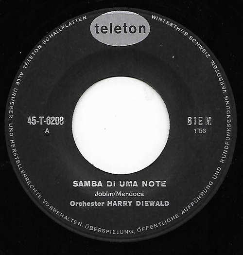 Cover Orchester Harry Diewald - Samba Di Uma Note (7) Schallplatten Ankauf