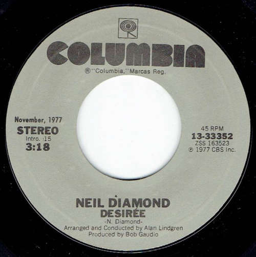 Cover Neil Diamond - Desirée / Beautiful Noise (7, RE) Schallplatten Ankauf
